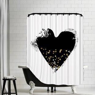Clearance Heart Shower Curtain ByEast Urban Home