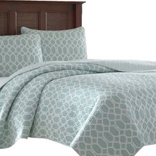 catalina trellis 3 piece reversible quilt set by tommy bahama bedding