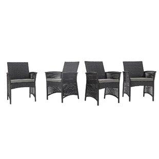 Codman Backyard Pool Steel Frame Patio Chair with Cushions