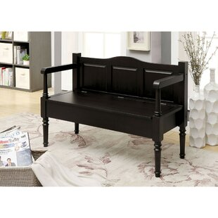 Roselli Wood Storage Bench by Gracie Oaks