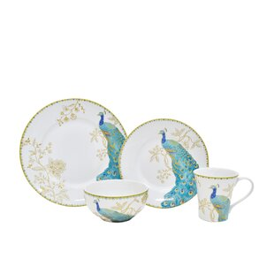 Peacock Garden 16 Piece Dinnerware Set, Service for 4