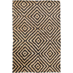 Bargain Pyramid Hand Knotted Jute Ink Area Rug By DwellStudio