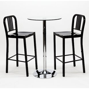 Talon 3 Piece Pub Table Set By Metro Lane