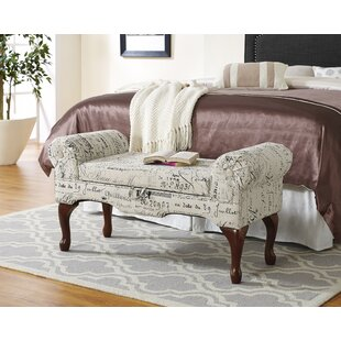 Roundhill Furniture Lilion Upholstered Storage Bench