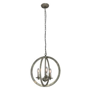 Bungalow Rose Westboro 3-Light Globe Chandelier