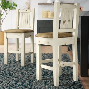 Abella 30 Wood Bar Stool by Loon Peak 2019 Sale
