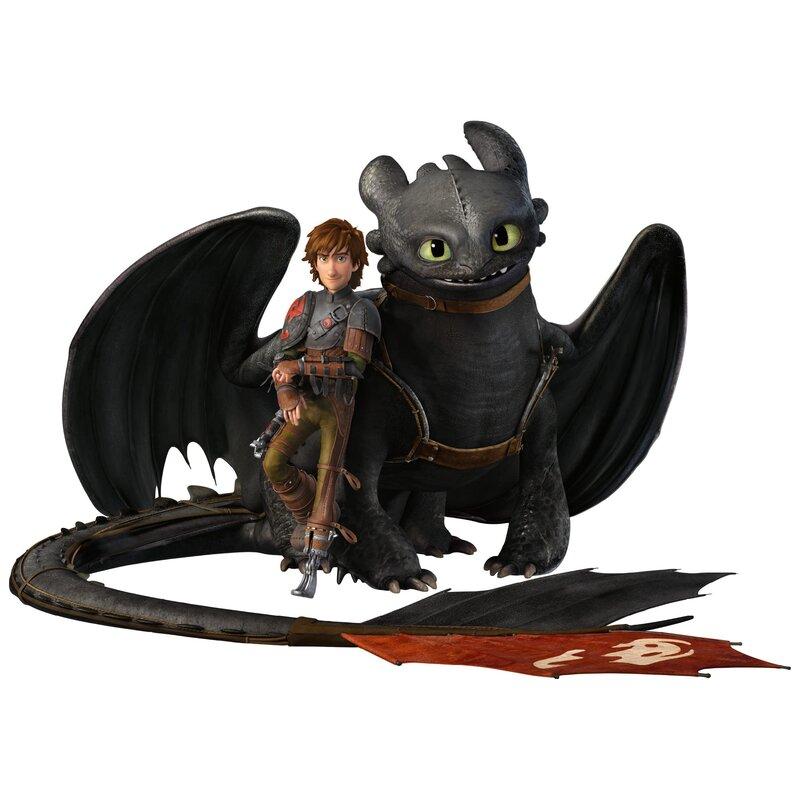 East Urban Home Wandtattoo Dragons Hicks und Ohnezahn