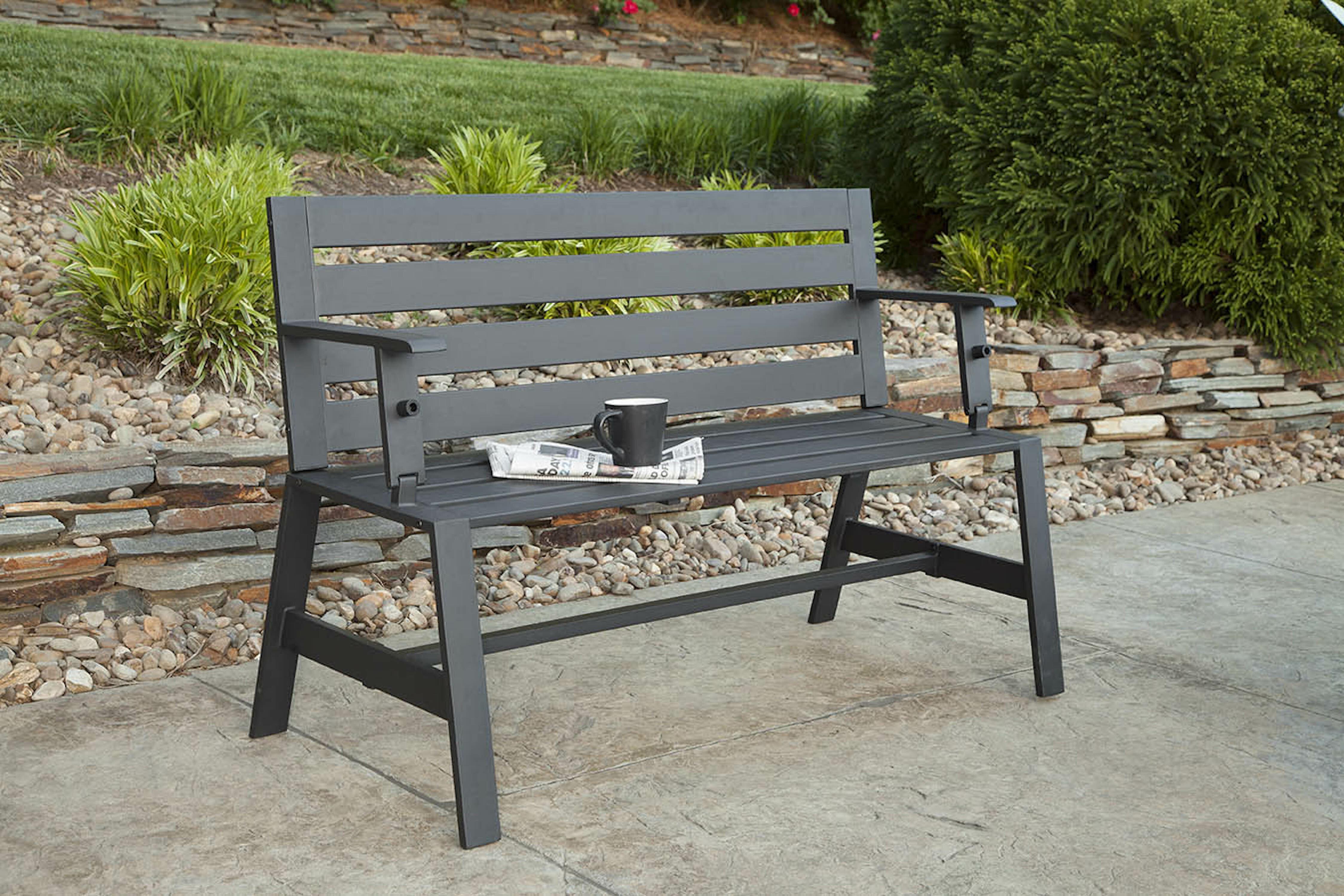 Foundry Select Smelser Metal Garden Bench Wayfair