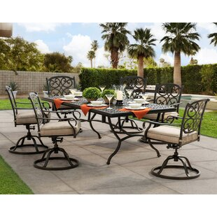 Darby Home Co Tyrell 7 Piece Dining Set with Cushions