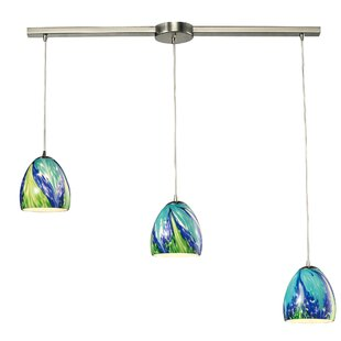 Wobna 3-Light Cluster Pendant by Latitude Run