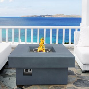 Armen Living Marquee Stone Propane Gas Fire Pit Table