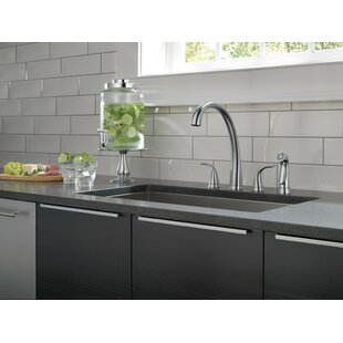 Pilar Double Handle Kitchen Faucet with Spray and Diamond Seal Technology