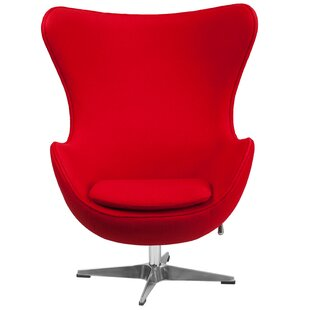 Ordinaire Red Leather Swivel Chair | Wayfair