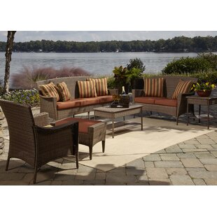Key Biscayne 5 Piece Sofa Seating Group with Cushions
