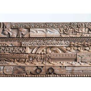 Mcferren Reclaimed Wood Carvings Nightstand by Bungalow Rose