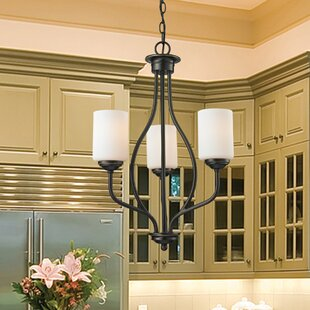 Charlton Home Weatherly 3-Light Shaded Chandelier