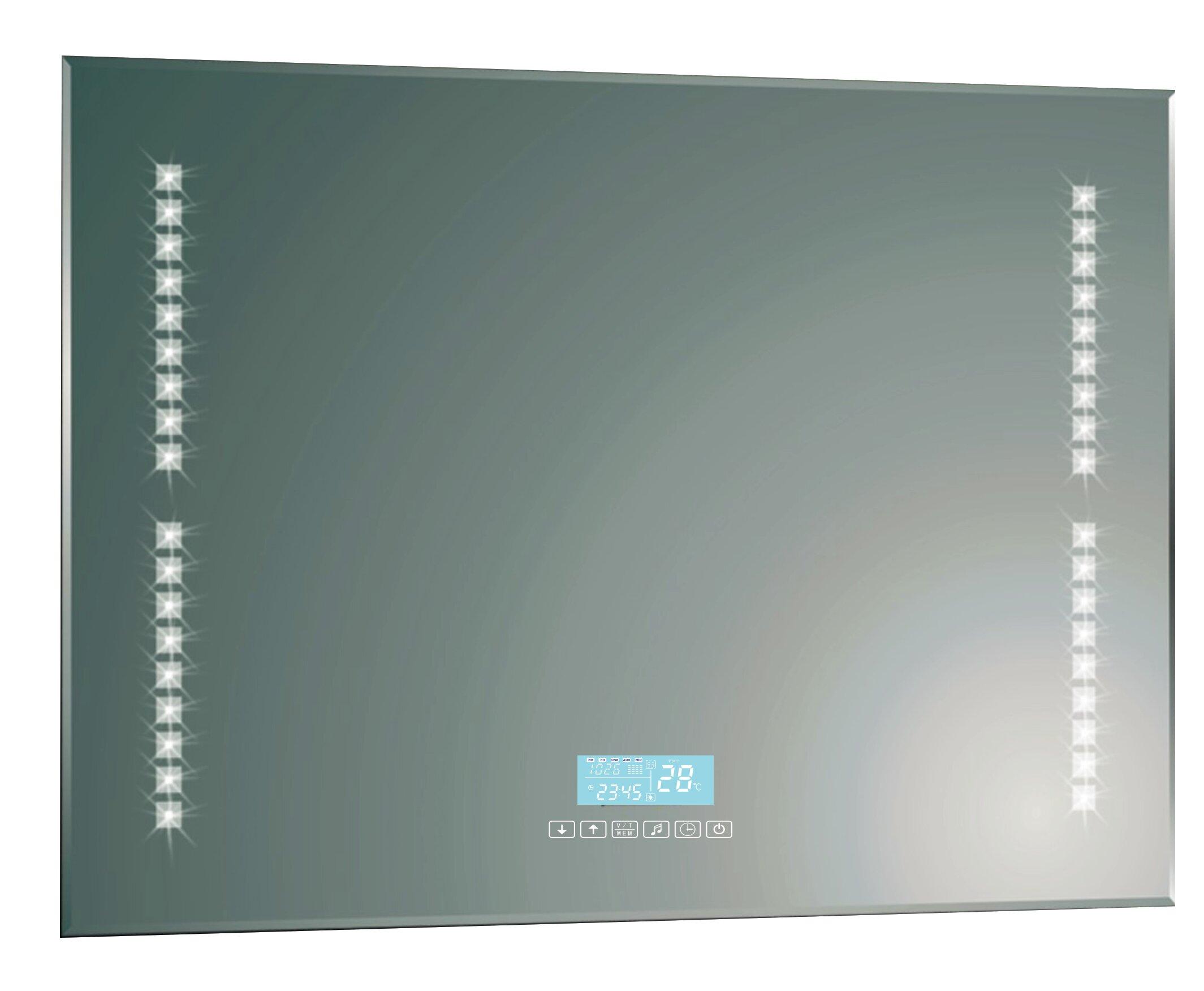 Rebrilliant Led Rectangle Aluminium Accent Wall Mirror