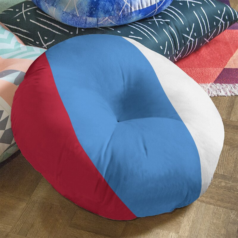 East Urban Home Houston Throwback Football Tufted Floor Pillow Wayfair