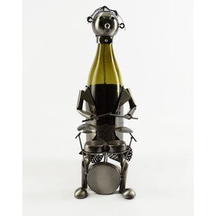 Drummer 1 Bottle Tabletop Wine Rack by Wi..