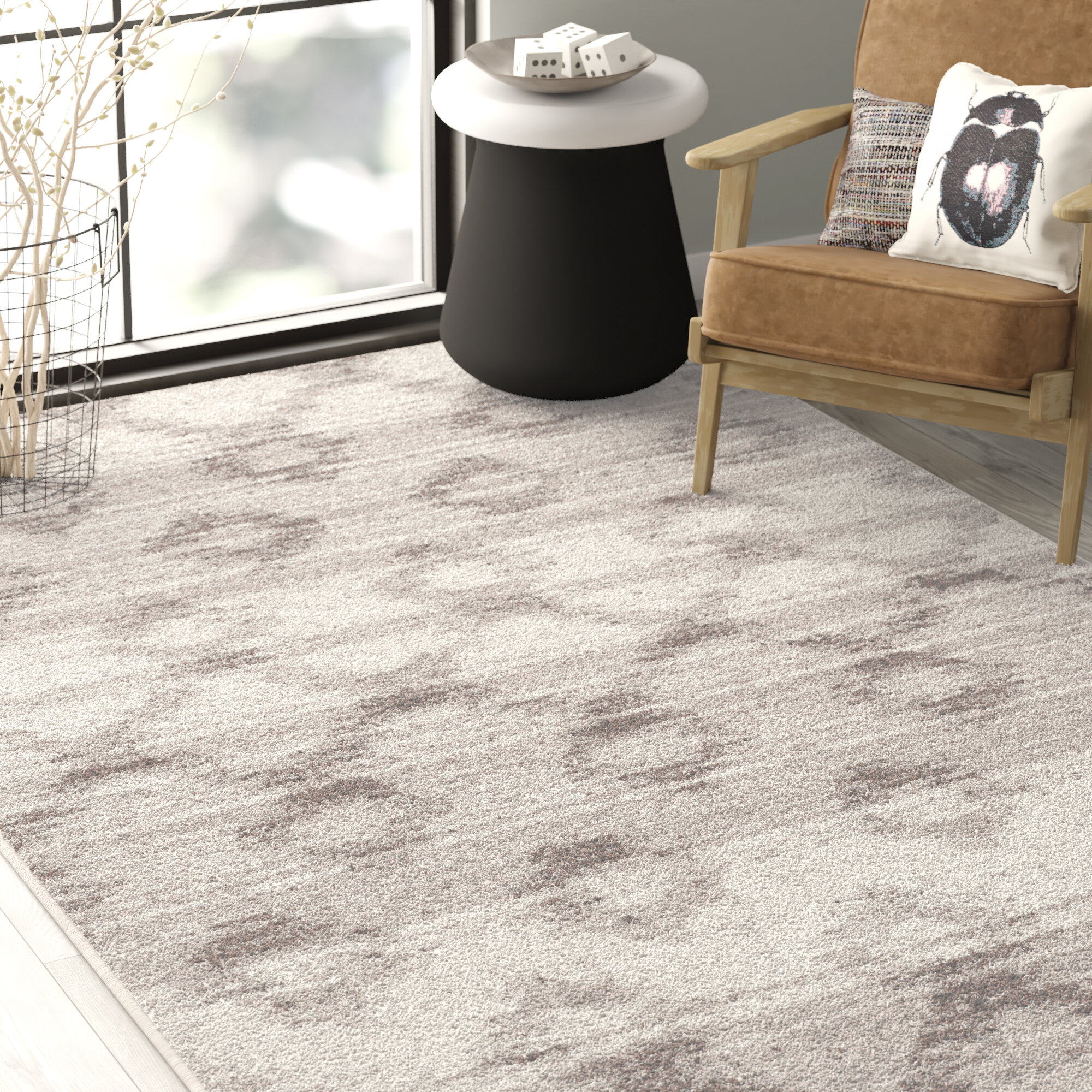 Trent Austin Design Shults Power Loom Gray Rug Reviews Wayfair