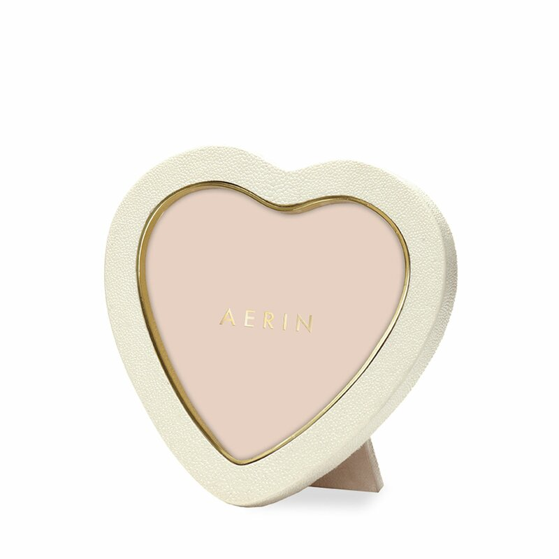 Shagreen Heart Picture Frame