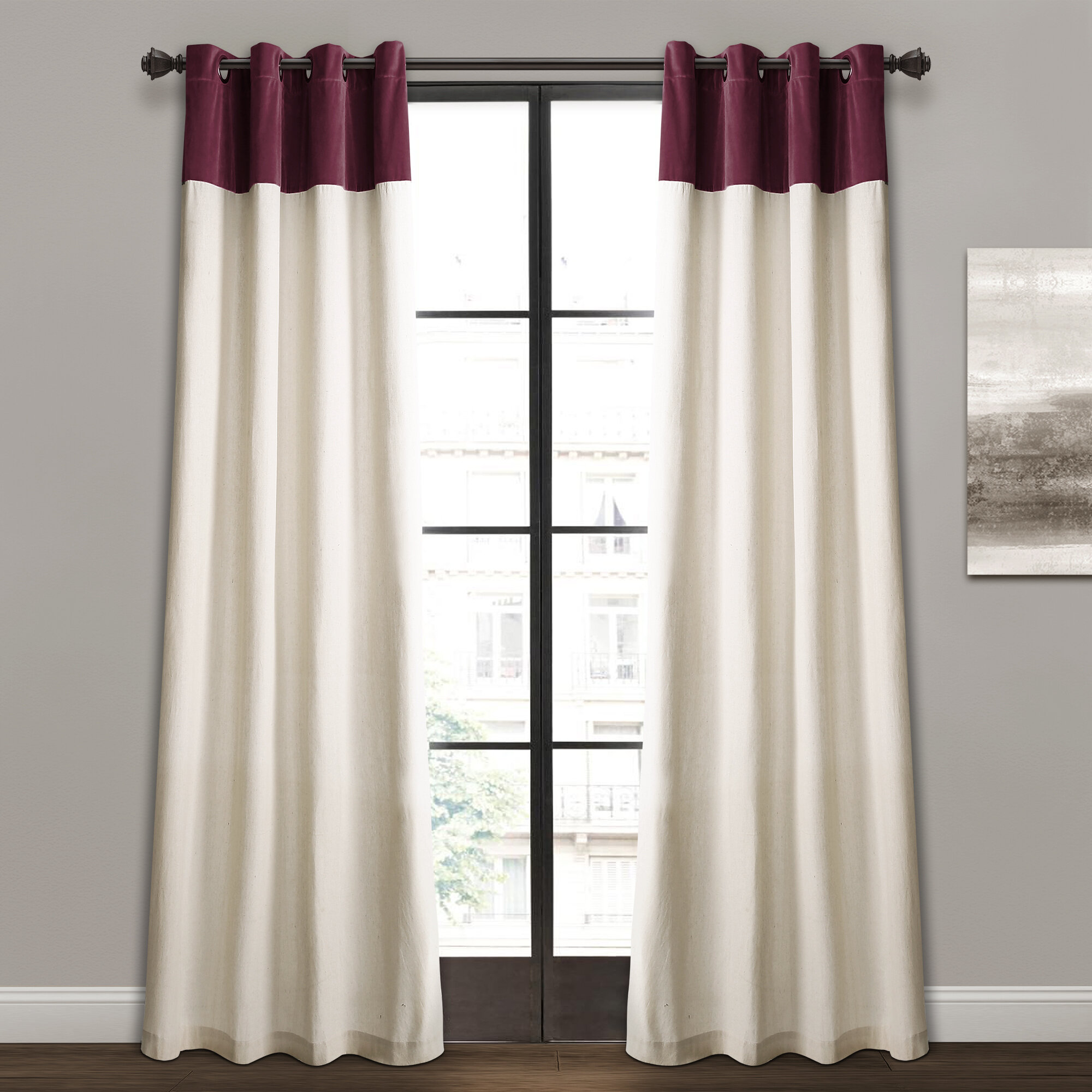 Alcott Hill Claudia Solid Semi Sheer Grommet Curtain Panels Reviews Wayfair