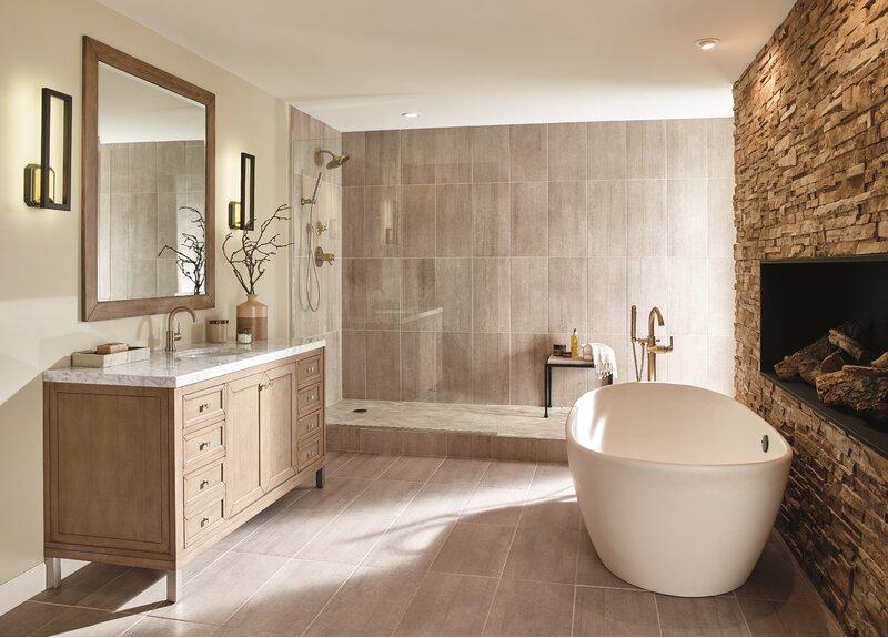 T11859 Cz Bl Delta Trinsic Bathroom Diverter Faucet Trim Reviews Wayfair