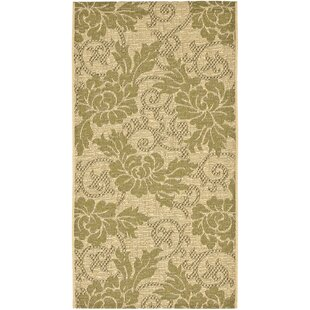 Laurel Creme/Green Indoor/Outdoor Area Rug