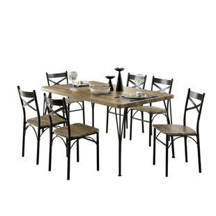 Berklee Wooden 7 Piece Counter Height Dining Table Set