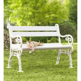 Weatherproof with Scroll Arms PVC Garden Bench