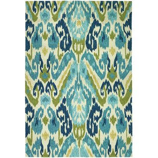 Mariann Hand-Woven Green/Blue Indoor/Outdoor Area Rug