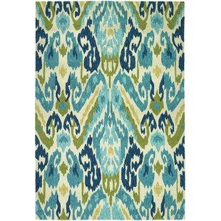 Mariann Hand-Woven Green/Blue Indoor/Outdoor Area Rug