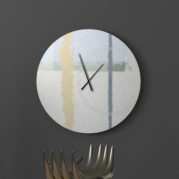 Ebern Designs Like Law Abiding Abstract Metal Wall Clock Wayfair