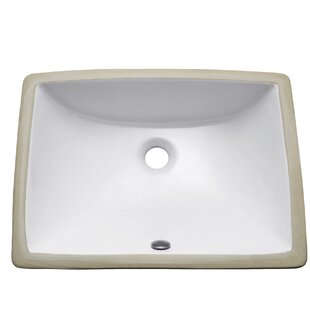 Avanity Vitreous China Rectangular Undermount Bathroom Sink with Overflow