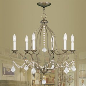 bayfront 6light crystal chandelier - Brass Chandelier