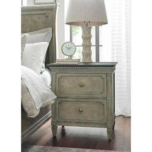 Ainsley 2  Drawer Nightstand in Gray