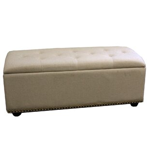 ORE Furniture Upholstered Storage Bench w..