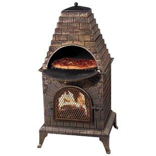 Aztec Allure Pizza Oven Outdoor Fireplace