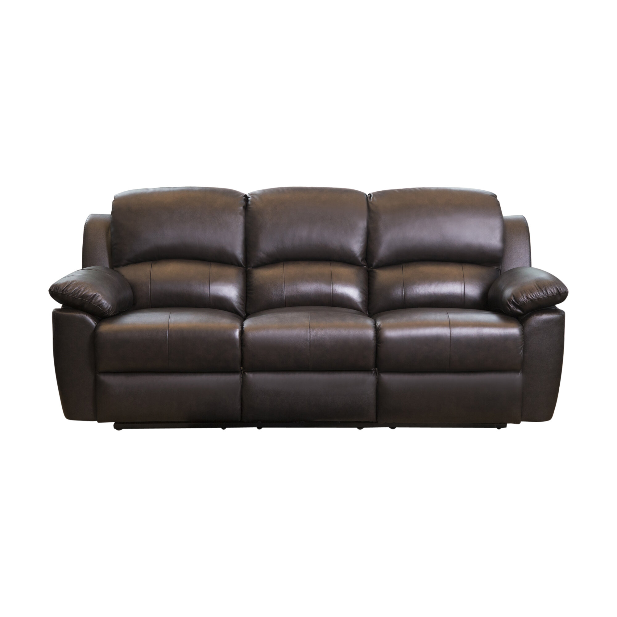 Darby Home Co Blackmoor Genuine Leather Reclining Sofa Reviews Wayfair