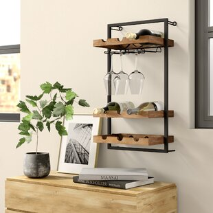 Orla 9 Bottle Wall Mounted Wine Rack by W..