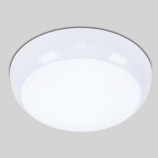 Cillian LED Outdoor Bulkhead Light By Symple Stuff