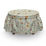 Childish Woodland Concept Ottoman Slipcover (Set of 2) by East Urban Home