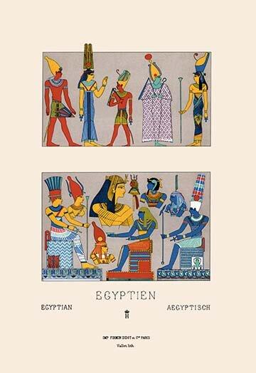 Buyenlarge Egyptian Gods Goddesses And Pharaohs By Auguste Racinet Painting Print Wayfair
