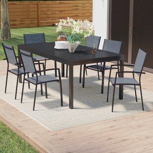 Wade Logan Balducci 7 Piece Rectangular Dining Set