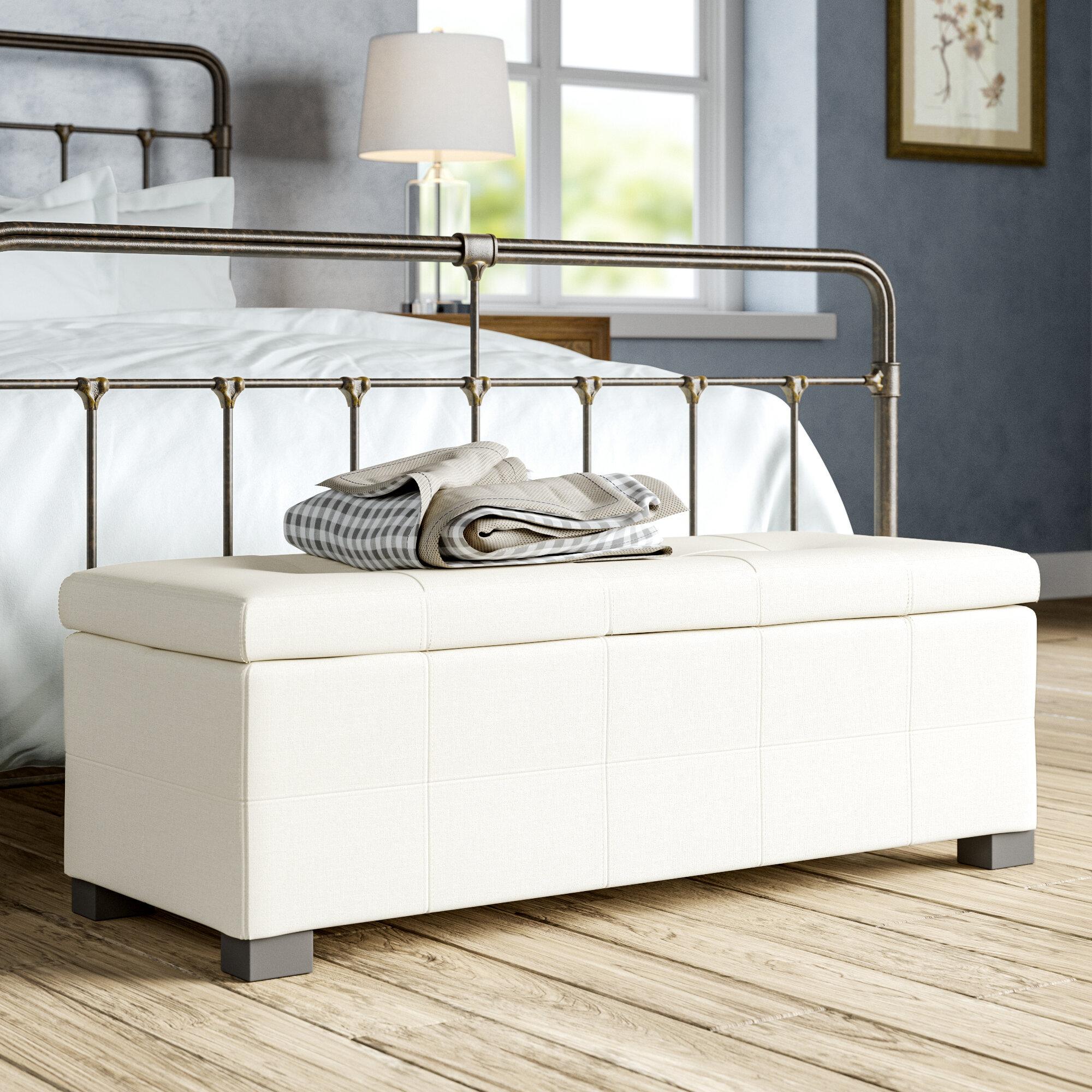 Merlin Upholstered Storage Bench Reviews Birch Lane