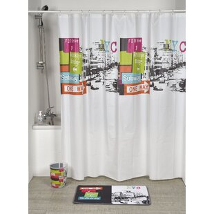 Urban NYC Printed Shower Curtain