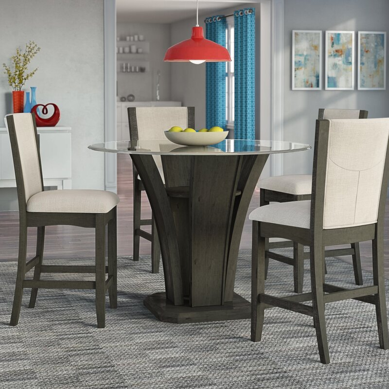 Gentil Marnie 5 Piece Round Counter Height Dining Set