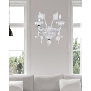 Earline Glass 2-Light Candle Wall Light by Astoria Grand