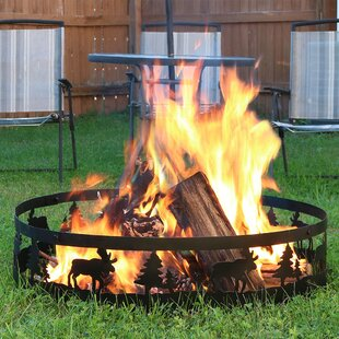 Terrell Steel Wood Burning Fire Ring By Millwood Pines
