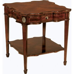 Aged Regency Serpentine End Table by Maitland-Smith Fresh